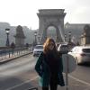 febrero del 2015, budapest. chain bridge