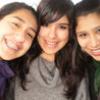 Con las chicas del cbc.. como se las extraña! Iris, Pao y yo (la del medio)